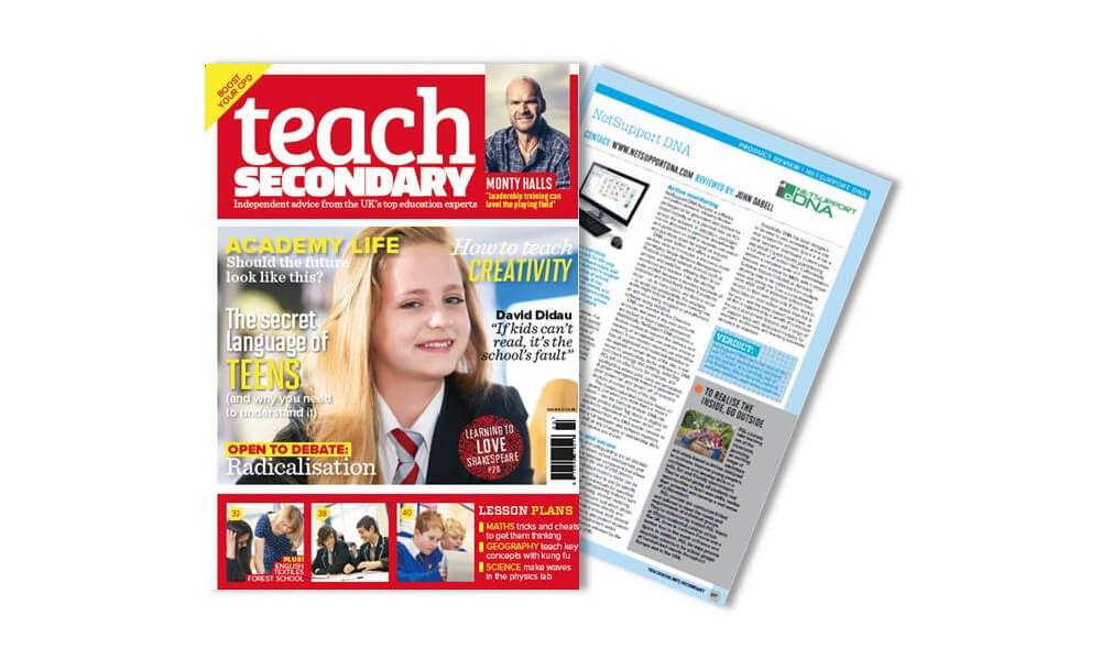 Teach Secondary magazine reviews NetSupport DNA