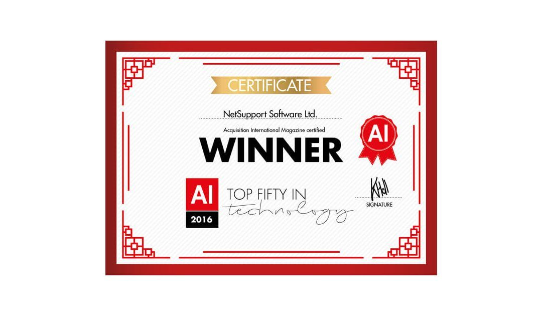 Another IT Publication recognises NetSupport as a top tech company