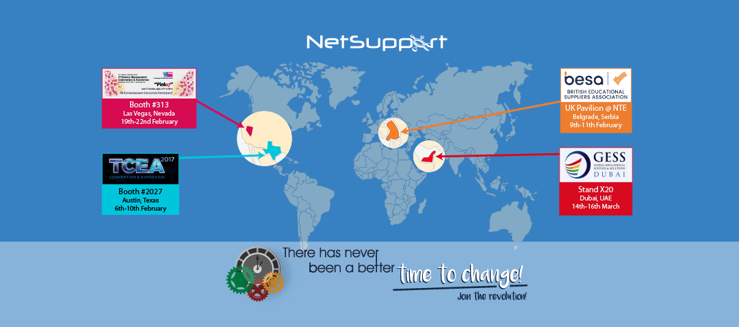 NetSupport is on the road attending events across the world!