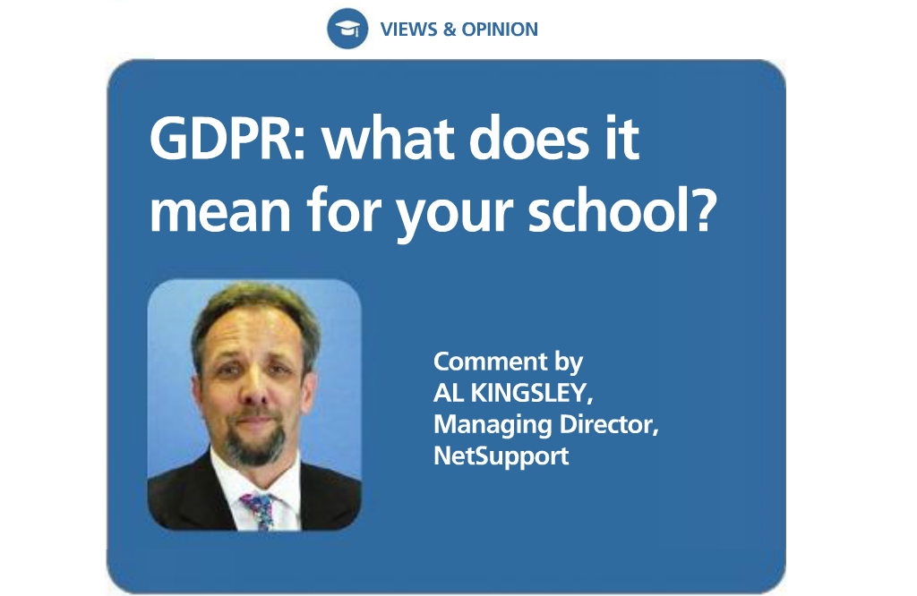 NetSupport talks GDPR with Education Today