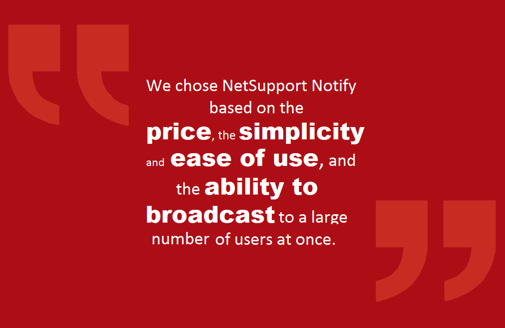 Catholic Charities reviews NetSupport Notify