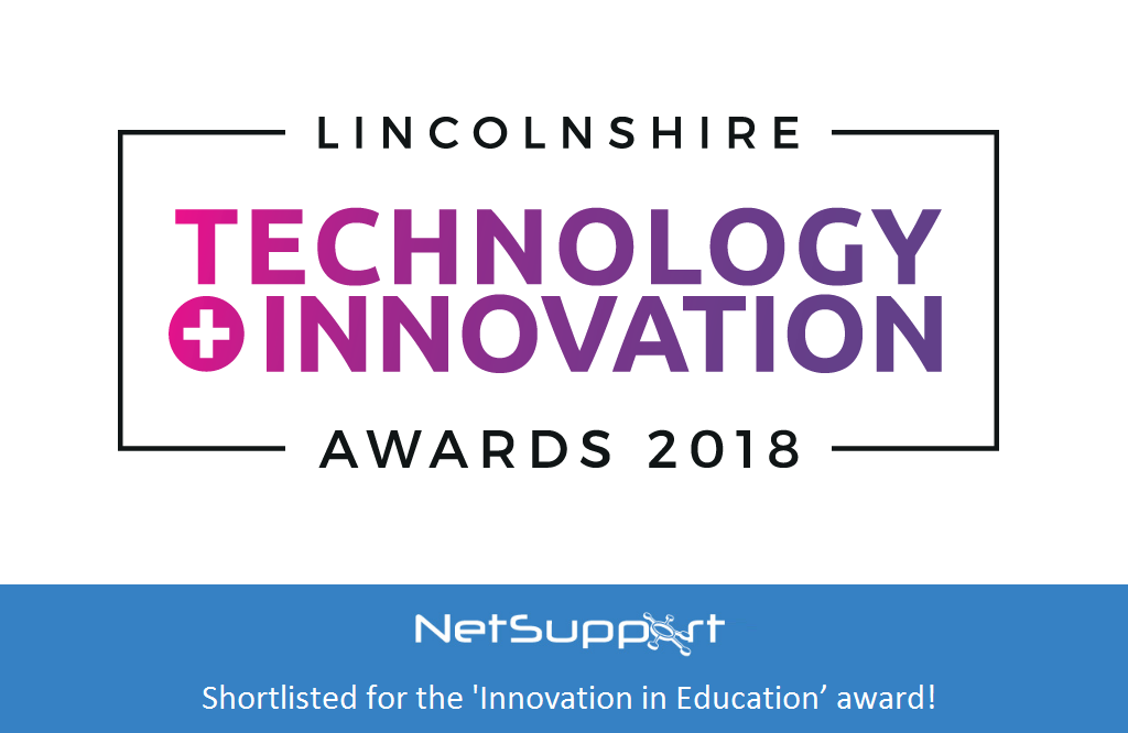 NetSupport shortlisted for the 'Innovation in Education' award!