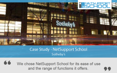 Sotheby's reviews NetSupport School