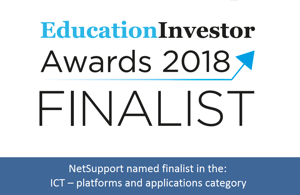 NetSupport named finalist in the 2018 Education Investor Awards!