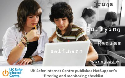 UK Safer Internet Centre publishes NetSupport's filtering and monitoring checklist