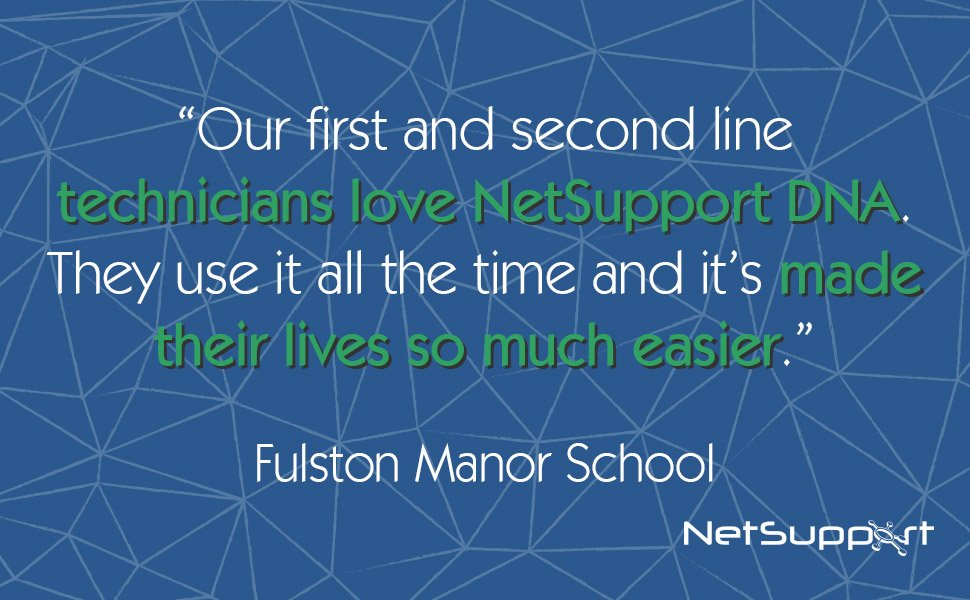 "NetSupport DNA described as ""brilliant"" by Fulston Manor School"