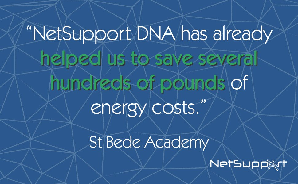 NetSupport DNA helps St Bede Academy save on energy costs