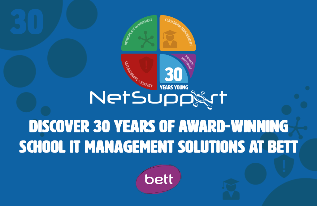 Discover 30 years of award-winning school IT management solutions at Bett