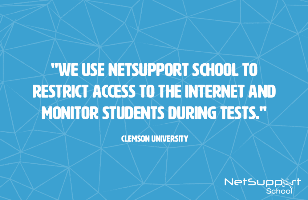 Clemson University reviews NetSupport School