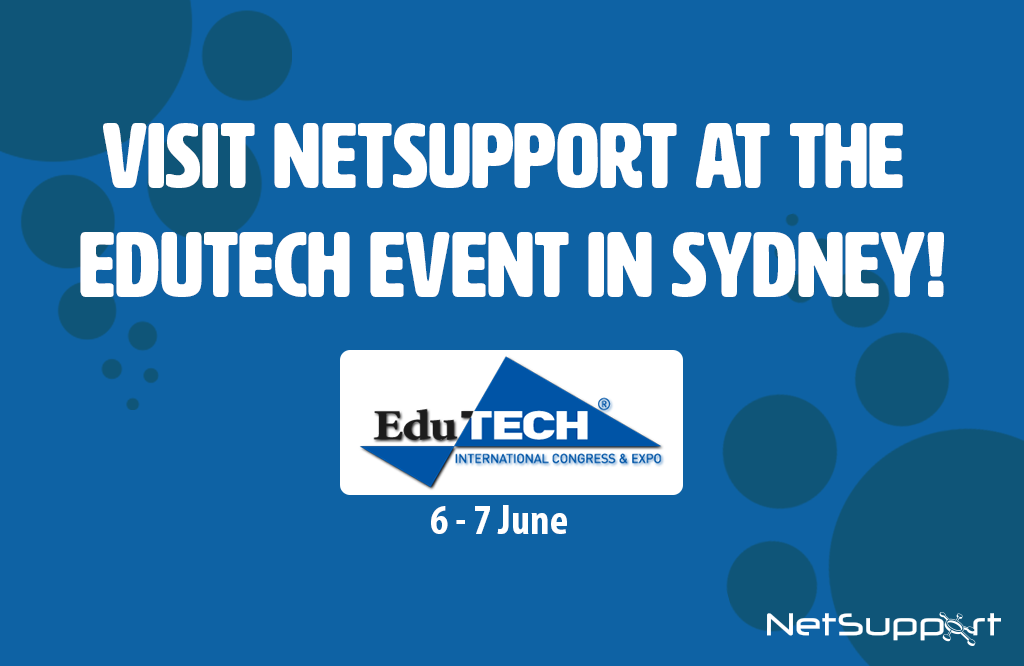 Visit NetSupport at the EduTECH event in Sydney!