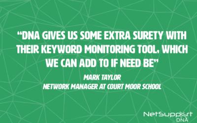 Court Moor school saves money with NetSupport DNA