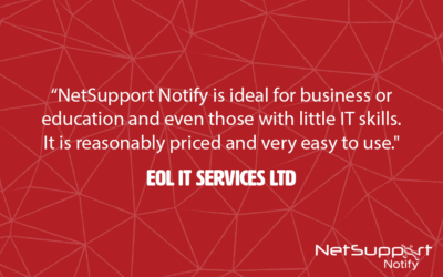 EOL IT Services reviews NetSupport Notify