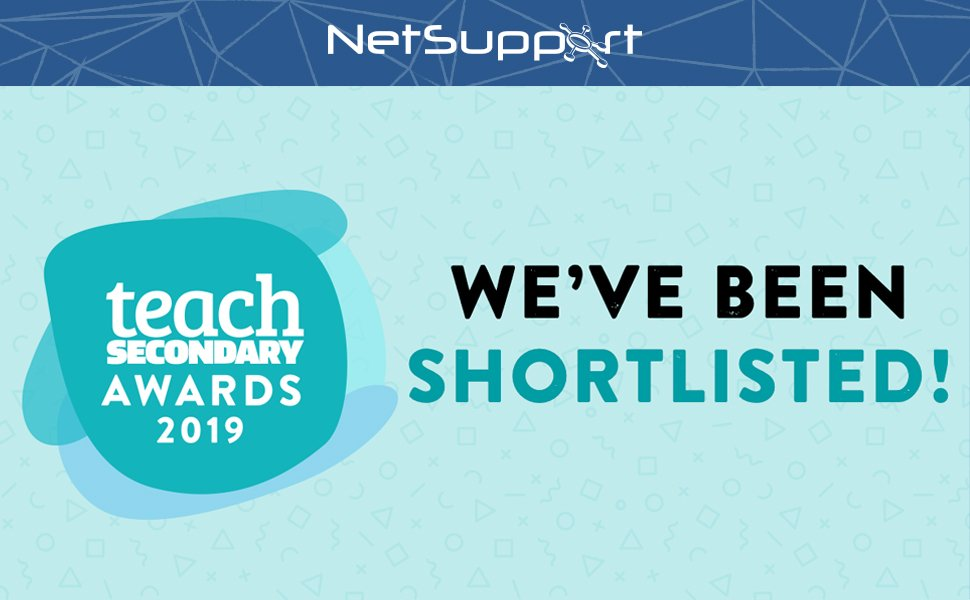 NetSupport is a finalist in the Teach Secondary 2019 Awards!