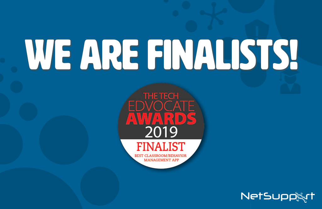 NetSupport is a finalist in the Edvocate 2019  Awards!