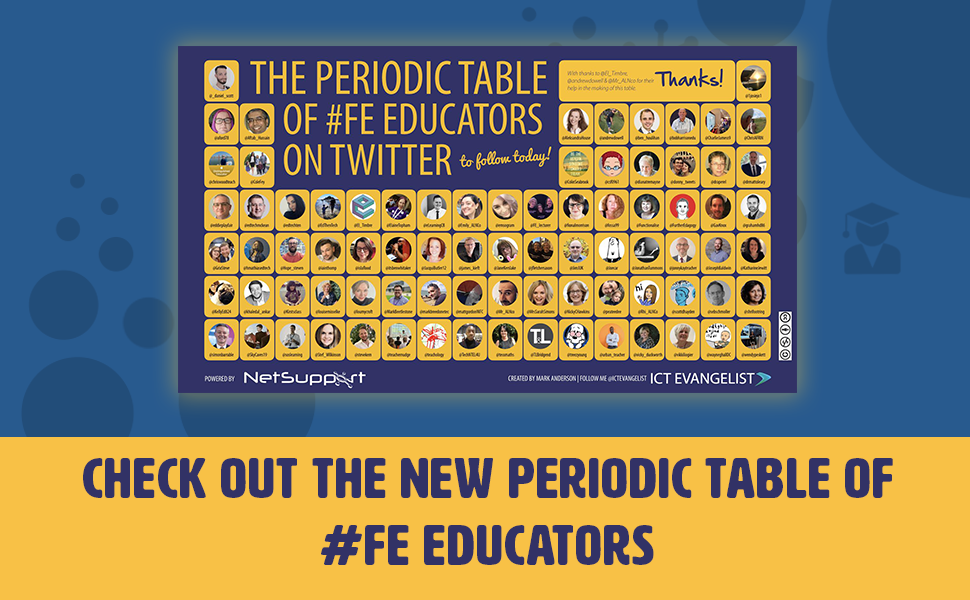 The Periodic Table Of #FE Educators On Twitter To Follow Today
