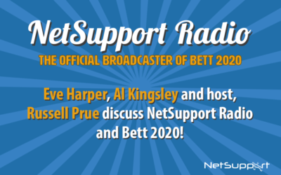 Get your voice heard with NetSupport Radio, official broadcaster of Bett 2020