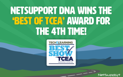 NetSupport DNA wins 'Best of TCEA' award!