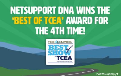 NetSupport DNA wins 'Best of TCEA' award!
