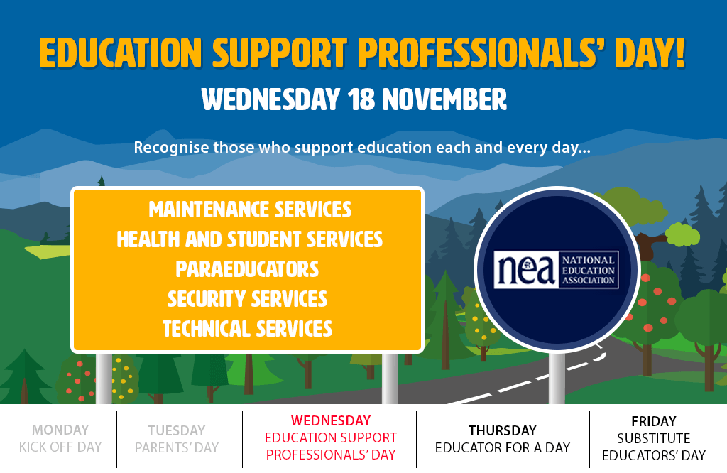 Today is Education Support Professionals' Day!