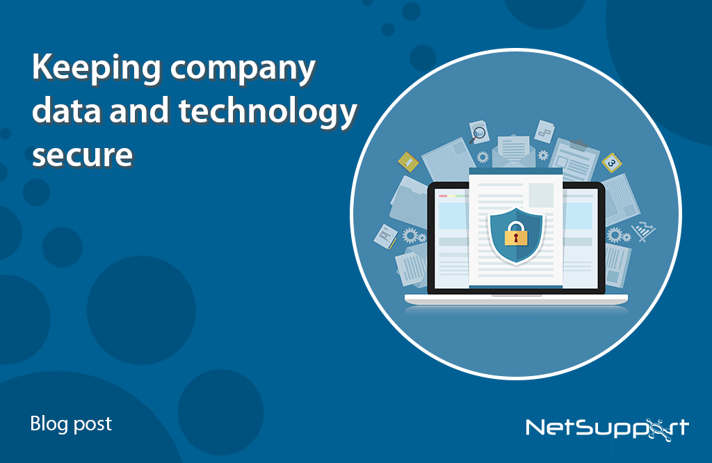 Keeping company data and technology secure…