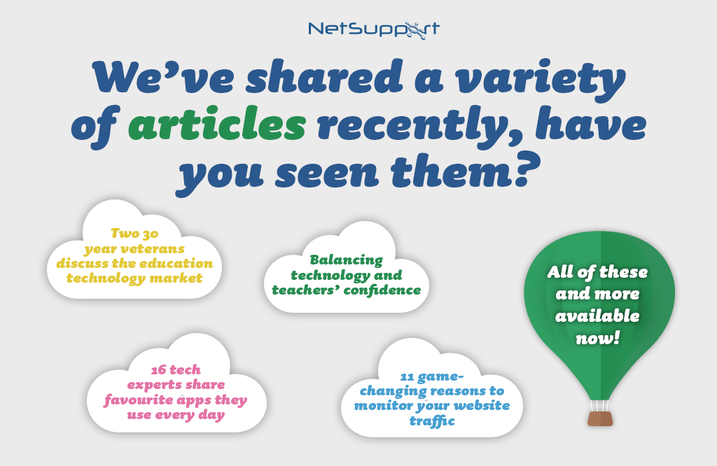 We've shared a variety of articles recently – have you seen them?