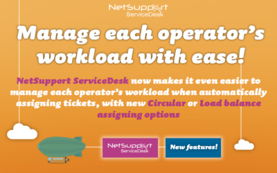 A new update for NetSupport ServiceDesk!