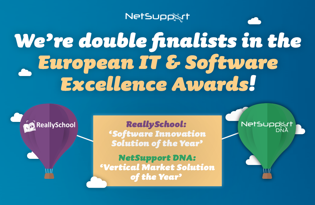 We're double finalists in the European IT & Software Excellence Awards!