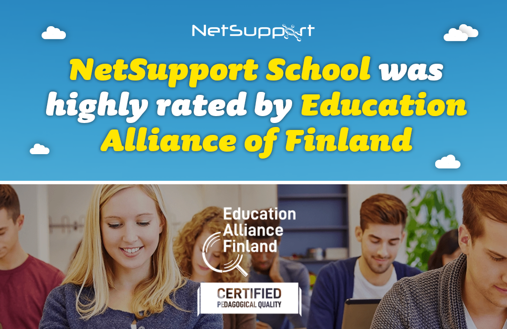 NetSupport School was highly rated by Education Alliance Finland