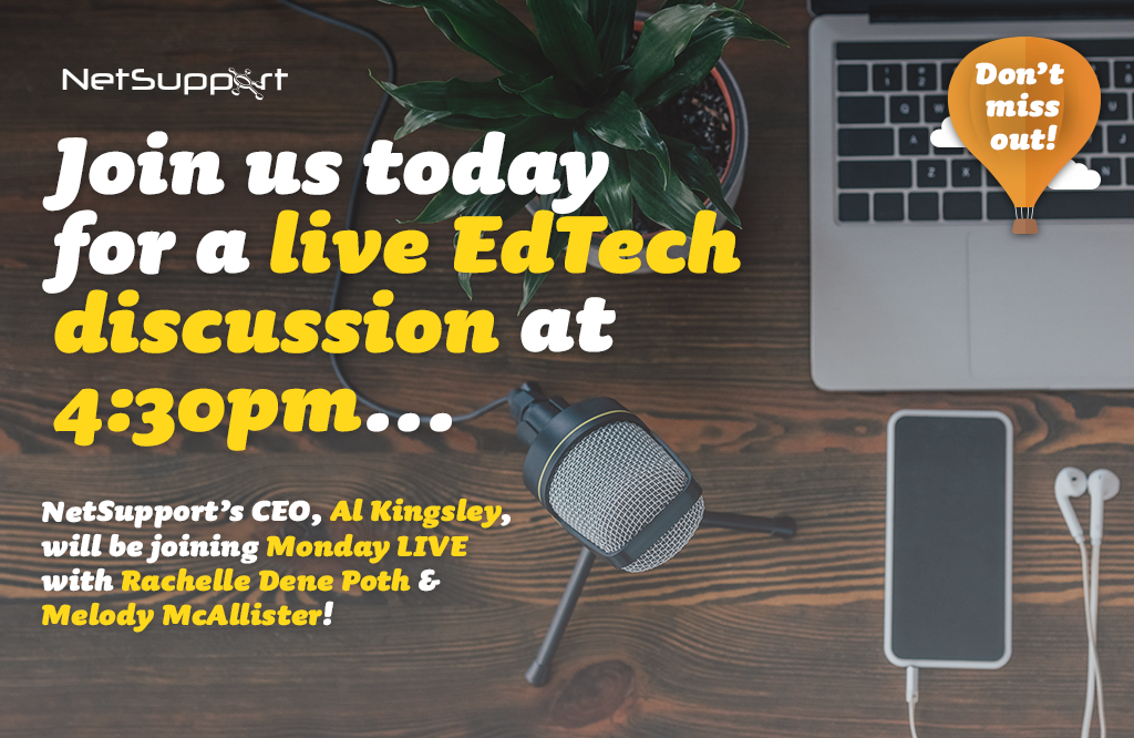 Join us today for a live edtech discussion