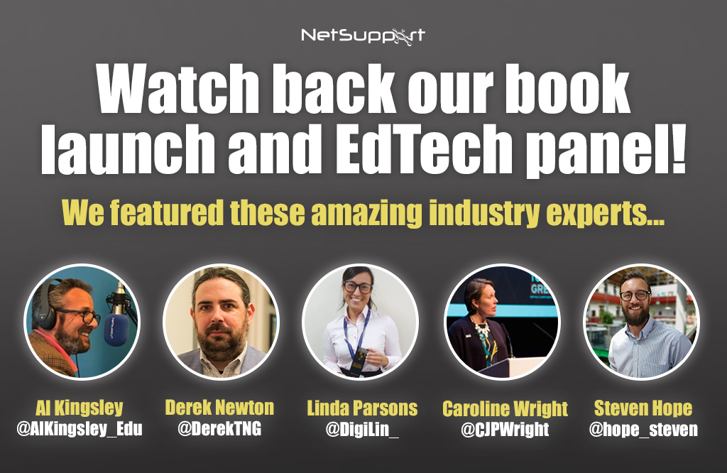 Watch back our book launch and edtech panel!