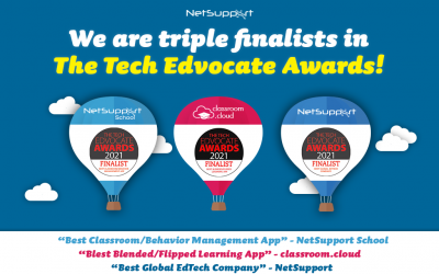 We're triple finalists in The Tech Edvocate Awards!
